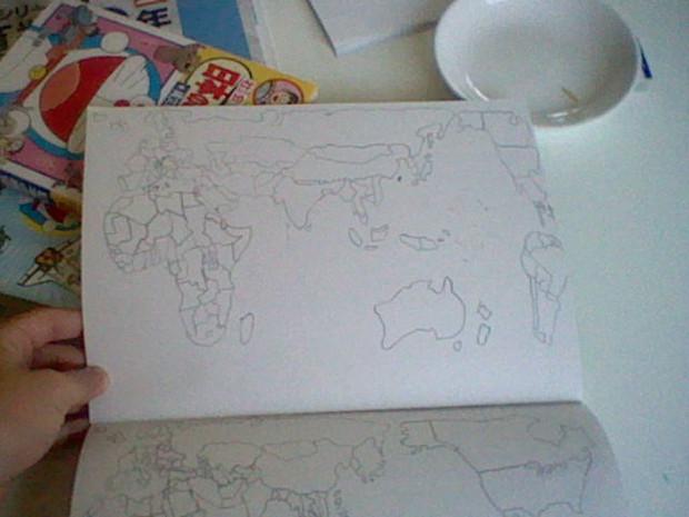 世界地図を描いてみた3