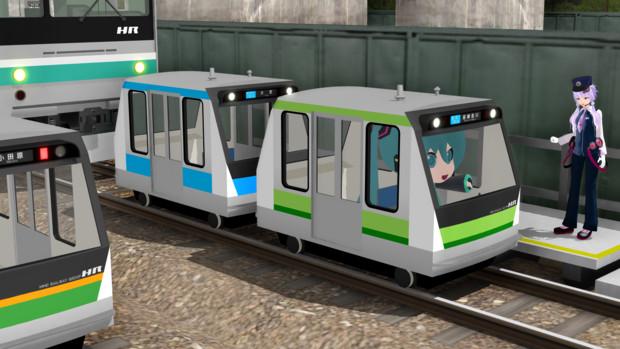【MMD-OMF3】ミニ電車