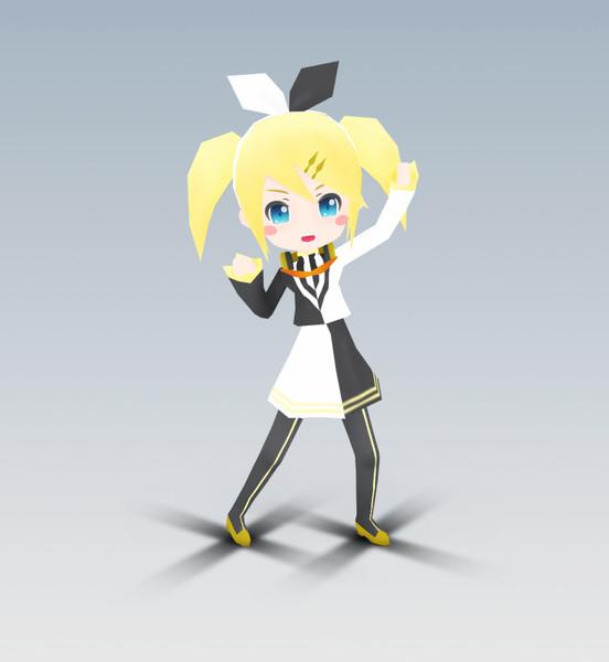 【MMD-OMF3】リアクターりん【配布開始】