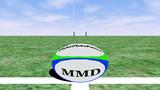 【MMD-OMF3】簡易ラグビーセット
