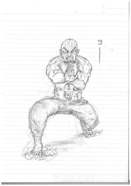 ノートに描いてみました
