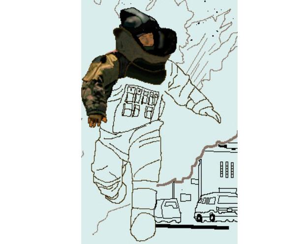 描きかけの爆発物処理班