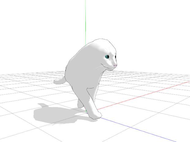 【MMD】二本足のネコ