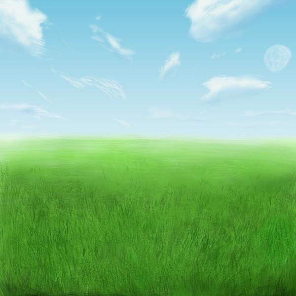 フリー背景(草原)