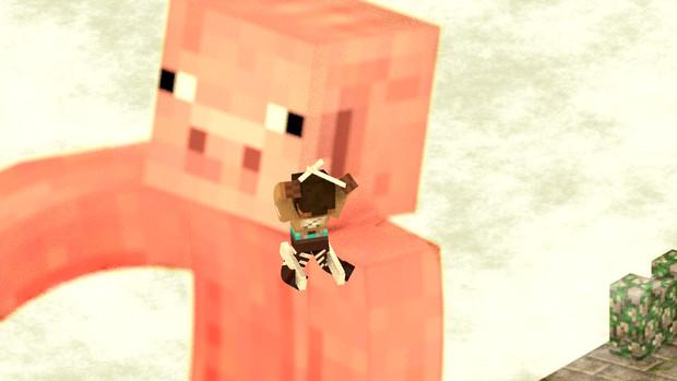 【進撃の巨豚】OPのワンシーンをマイクラの豚でやってみた