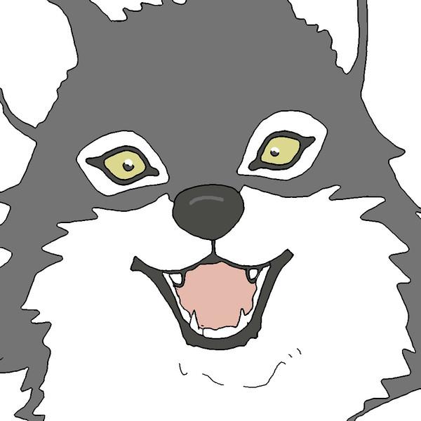 オオカミさんを描いてみた