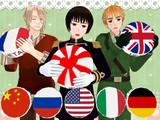 【配布】国旗クッション