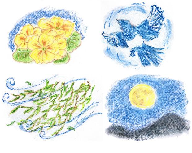 花鳥風月を描いてみた Baudroie さんのイラスト ニコニコ静画 イラスト