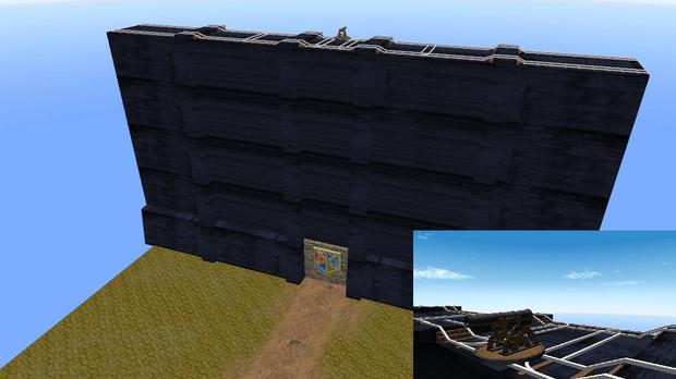 進撃の巨人に出てくる壁のようなもの