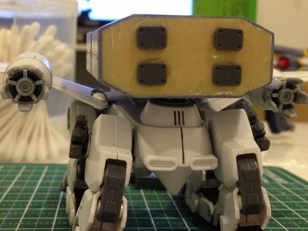HGバクゥ輸送型(未塗装) リア