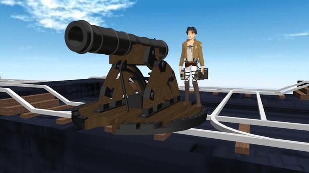 進撃の巨人の大砲
