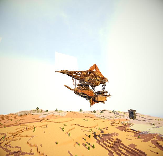 【Minecraft】 武装飛行船Pyramidion ~Guns of Minecraft~