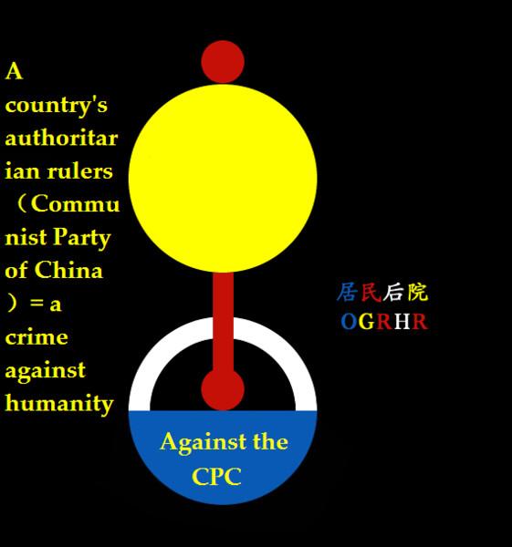 地球の住民の裏庭(中国共産党宣誓に対して)