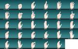 指ポーズのサンプル画像(背景変更)