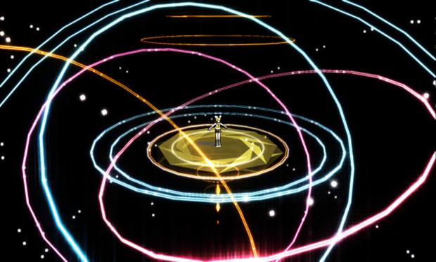 【ステージ配布】宇宙の星の動く線みたいなステージ
