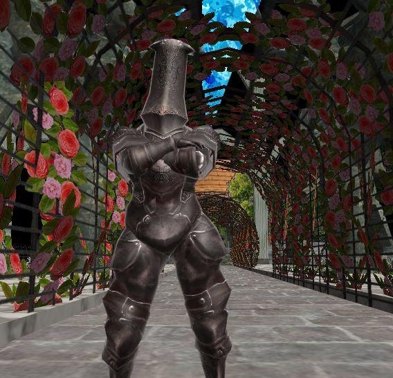 Tall helm armor(MMDモデル配布)