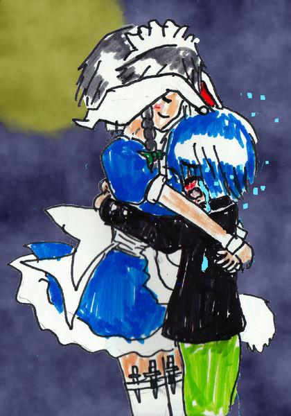 「泣かないで・・・慰めてあげるから。」