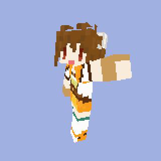 【MineCraft】空の軌跡エステル・ブライトのスキンを作ってみた