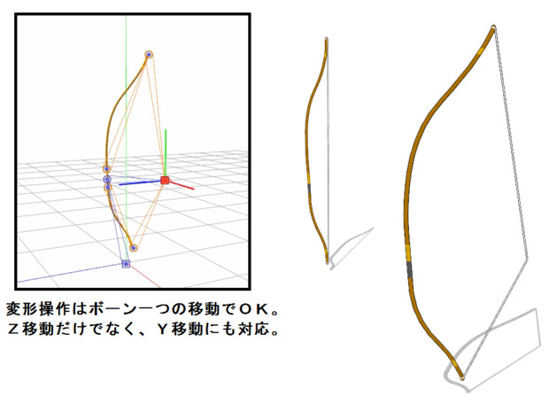 【MMD】ボーン制御型_可動弓
