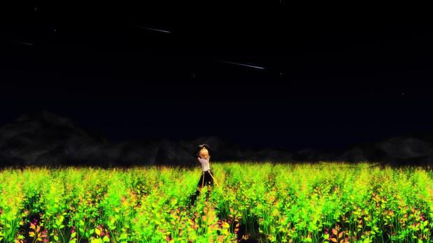 流れ星に見えるといいな