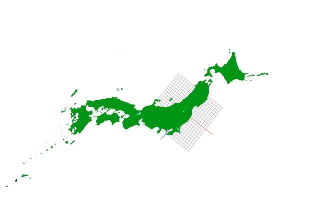 後は沖縄だけ(九州まで配布)