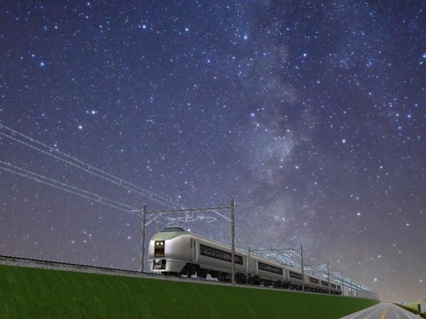 夏の夜の汽車
