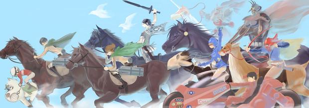 進撃の馬群