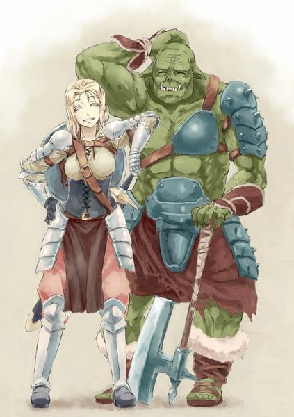 女騎士とオーク
