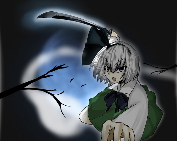 月夜に輝く白き影