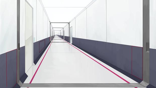 背景:通路/廊下(SF風味)