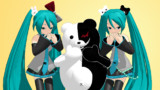 【MMD】モノクマと髪飾り【配布中】
