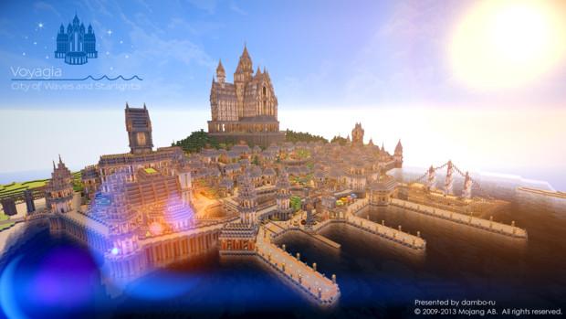【Minecraft】波音と星明かりの王都 ヴォヤージア