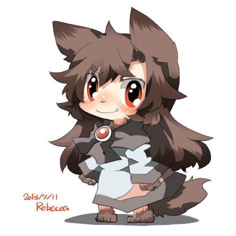 影狼ちゃんはけぶかわいい ニコニコ静画 イラスト