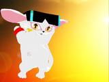 帽子猫ベティもマネしてみた