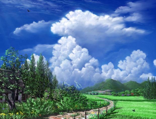 フリー素材――真夏の田園