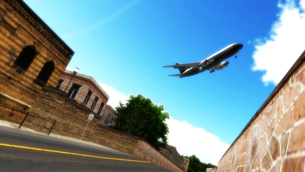 Neo UK City under the sky