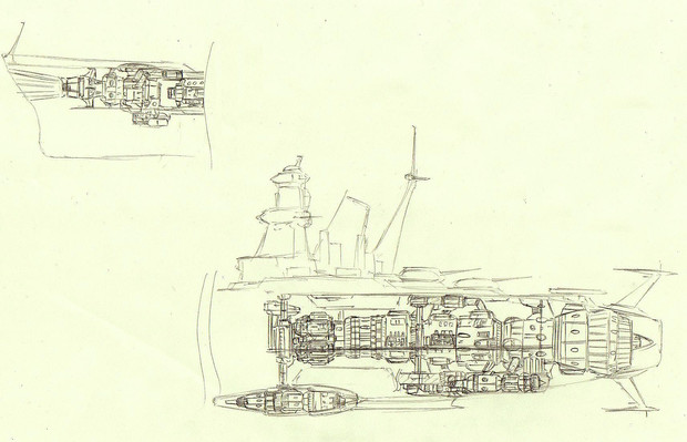 宇宙戦艦ナガトの内部的なもの