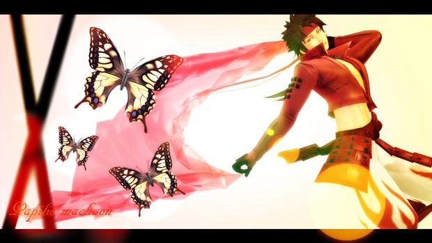 アゲハ蝶モデル配布
