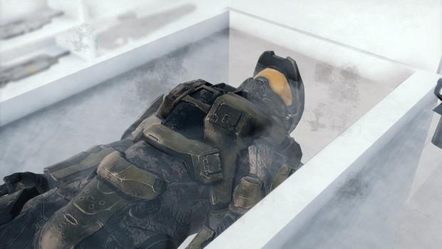 マスターチーフ「気がついたらロー◯ンのアイス冷凍庫で寝ていた」