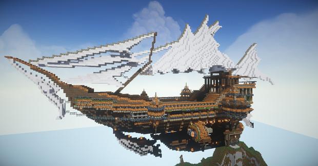 【Minecraft】飛空艇