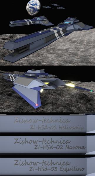 【配布】オリジナル戦艦 オベリスク級高速駆逐艦_3種就航