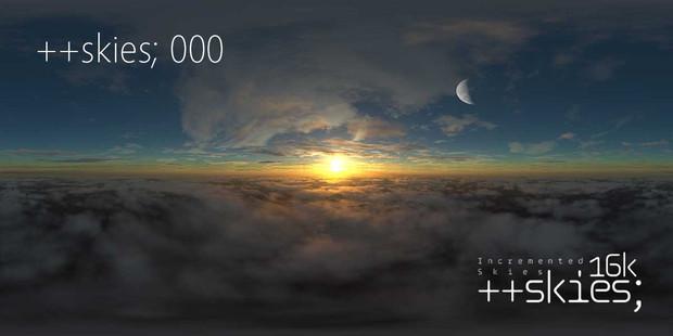 ++skies; 000 [16k8k/8k4k素材配布]