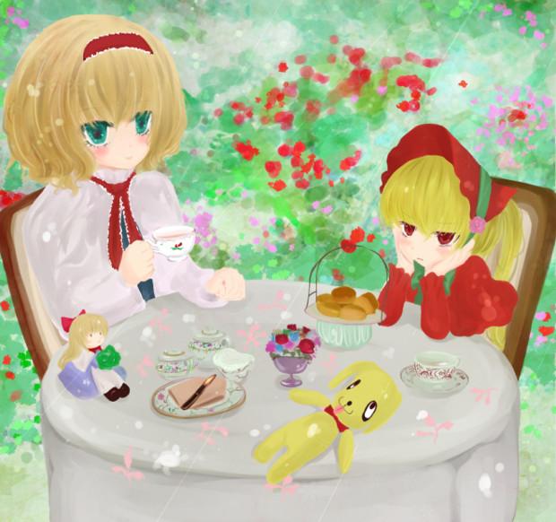 アリスのお茶会 いなさ さんのイラスト ニコニコ静画 イラスト
