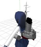 【モデル配布】睦月級兵装セットに船体パーツを追加しました