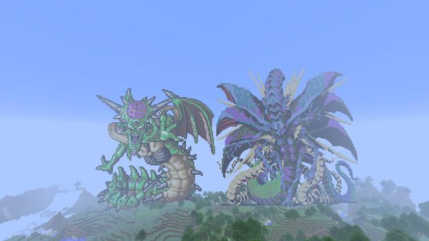 【Minecraft】 ドラクエ7&真メガテンⅡ ボス【マインクラフト】