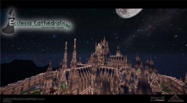Minecraft エクレシア カテドラリス 壁紙 1 ゴシック 幻想的な城 かで さんのイラスト ニコニコ静画 イラスト