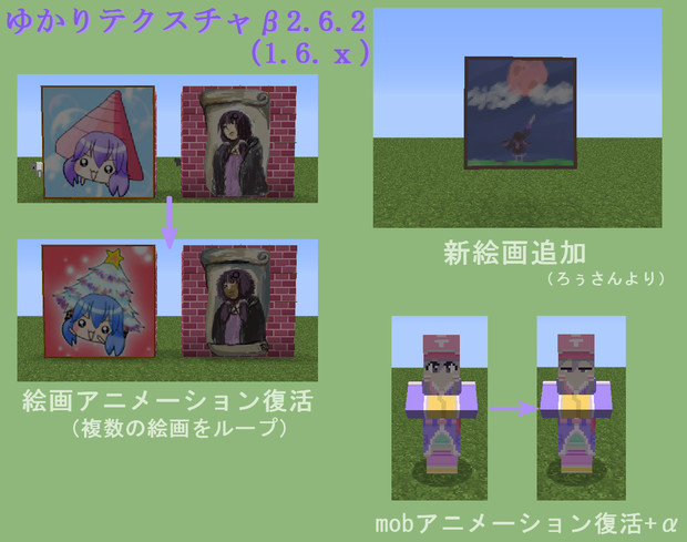 【Minecraft】ゆかりテクスチャβ2.6.2