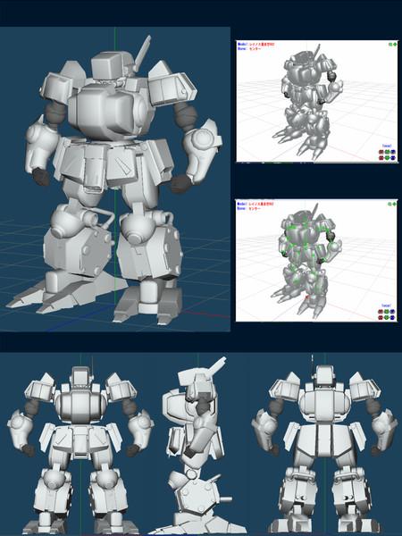 作った3DモデルのMMD化って難しい...