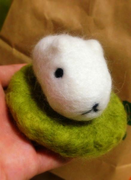 【羊毛フェルト】ホワイトさん【9】