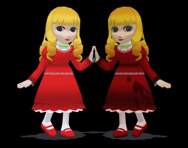 【MMDオリキャラ】汎用呪い人形(モデル配布)